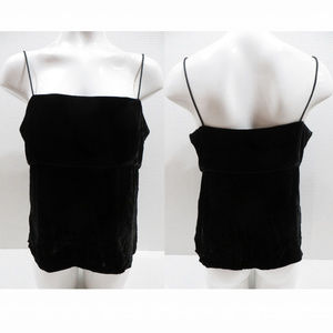 J.Crew top 12 black crushed velvet sleeveless